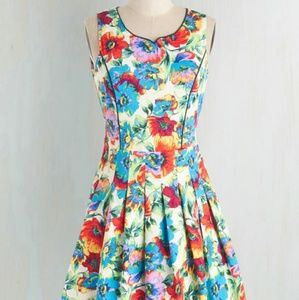 Modcloth Tropical Rain Florist Dress